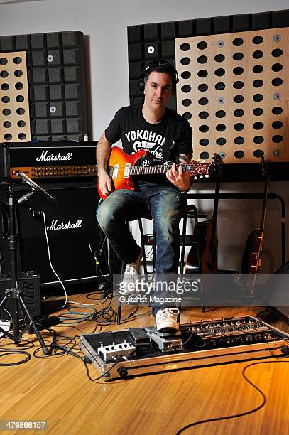 British sessions guitarist composer and producer Adam Goldsmith photographed during a portrait shoot for Guitarist Magazine January 6 2012