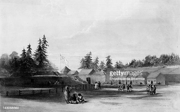 British Settlement At Fort Vancouver A View Of The British Settlement At Fort Vancouver A Fur Trading Outpost From 'Sketches In North America And The...