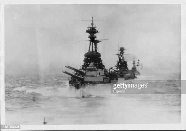 British ships in the Battle of Jutland during World War One Denmark May 31st 1916