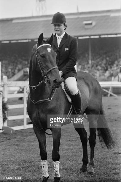 British show jumper Marion Coakes with her horse Stroller, winners of the Queen Elizabeth Cup, at the Royal International Horse Show, held at the All...