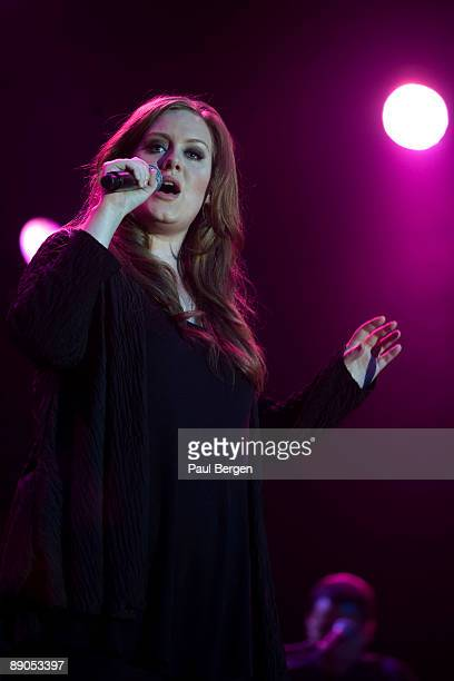 British singer Adele performs on stage on the last day of the North Sea Jazz Festival on July 12 2009 in Rotterdam Netherlands
