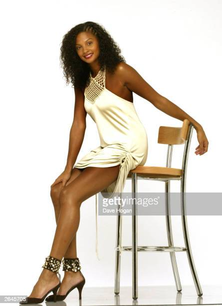 British singer Alesha Dixon of girl band Misteeq who is hosting the Mobo Awards 2002 with LL Cool J at London arena October 1 2002 poses for...