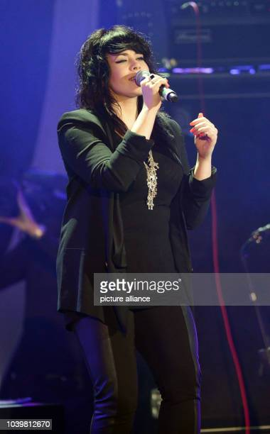 British singer Alex Hepburn performs at the German television show 'SWR3 New Pop Festival _ das Special' in BadenBaden Germany 14 September 2013 The...