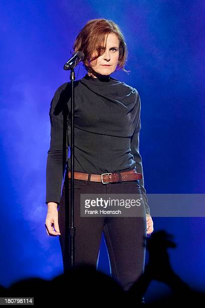 British singer Alison Moyet performs live during a concert at the Heimathafen Neukoelln on September 16 2013 in Berlin Germany