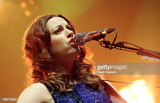 British singer Amy Macdonald performs live during a concert at the Tempodrom on November 12, 2012 in Berlin, Germany.