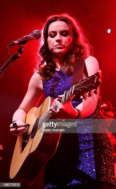 British singer Amy Macdonald performs live during a concert at the Tempodrom on November 12 2012 in Berlin Germany