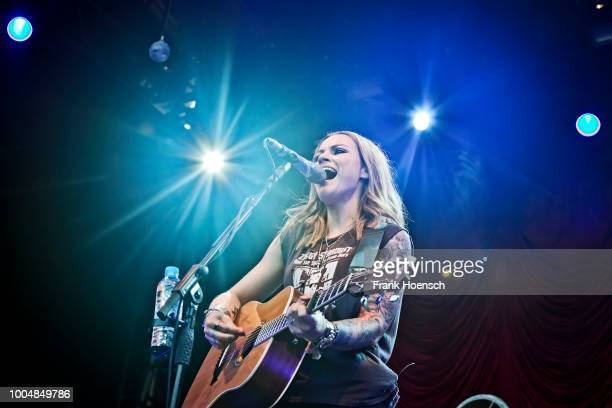 British singer Amy Macdonald performs live on stage during a concert at the Zitadelle Spandau on July 24 2018 in Berlin Germany