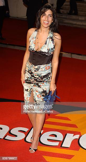 British singer Amy Winehouse attends the Brit Awards 2005 held at Earl's Court 2