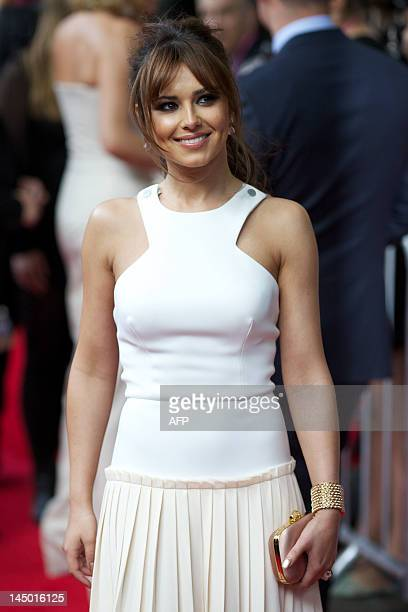 British singer and actress Cheryl Cole arrives for the European premiere of the film 'What To Expect When You're Expecting' at the IMAX Cinema in...