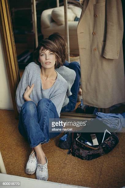 British singer and actress Jane Birkin