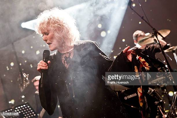 British singer and actress Petula Clark performs live during a concert at the Schwuz on April 28 2016 in Berlin Germany