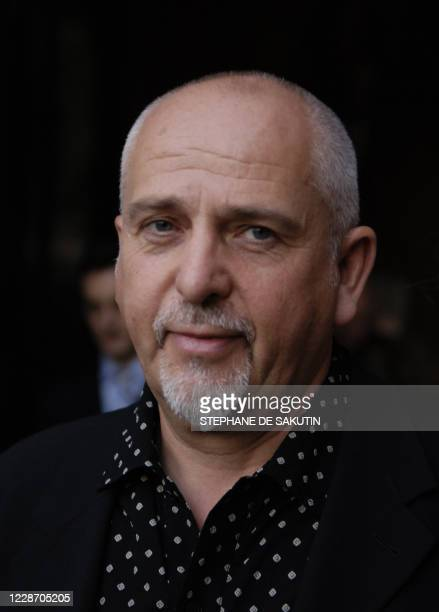 British singer and compose Peter Gabriel poses for the photographer at the Palais Royal during the Meetings for Europe and culture which gathered 800...
