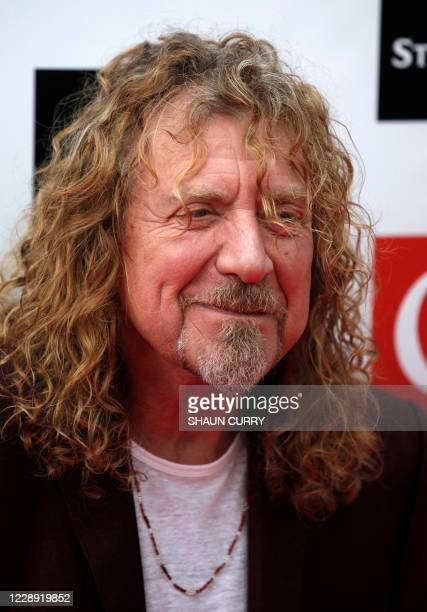 British singer and Former Led Zeppelin front man Robert Plant arrives at the Grosvenor House Hotel in central London for the 2009 Q Awards, on...