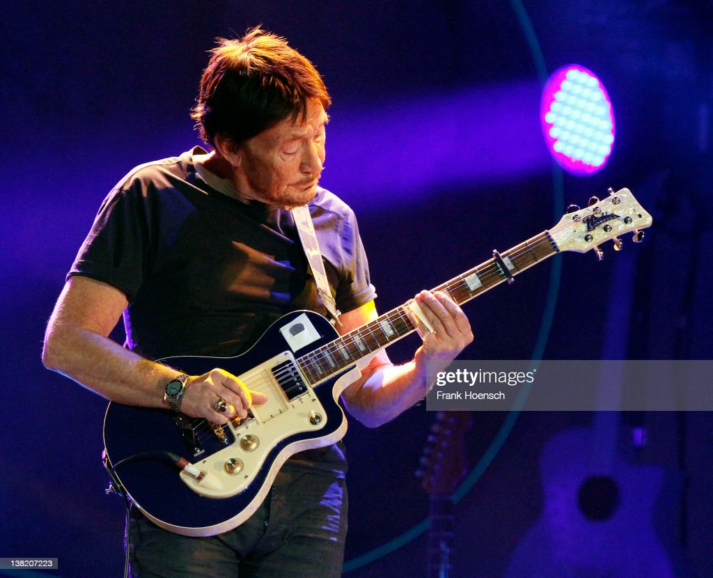 British singer and guitarist Chris Rea performs live during a concert at the ICC on February 4, 2012 in Berlin, Germany.