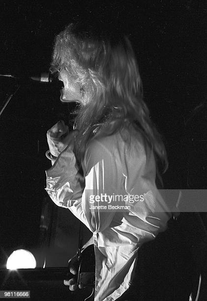 British singer and guitarist David Sylvian of the British pop group Japan performs on stage London England late 1970s