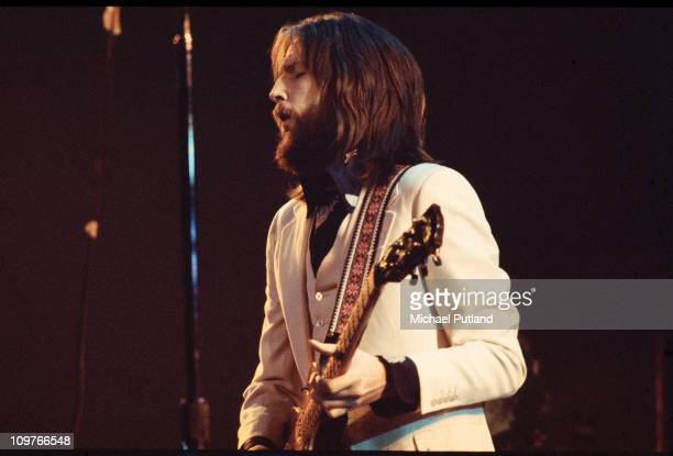 British singer and guitarist Eric Clapton performing on stage during his comeback concert at the Rainbow theatre in London England on January 13 1973