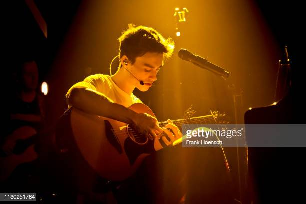 British singer and musician Jacob Collier performs live on stage during a concert at the Huxleys on February 16 2019 in Berlin Germany