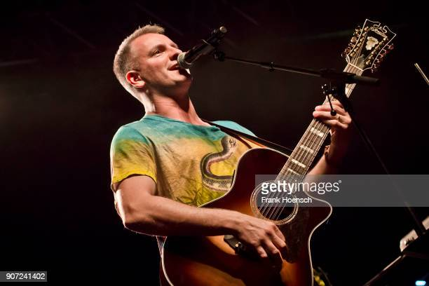 British singer and musician Joe Sumner performs live on stage during the concert 'Celebrating David Bowie' at the Huxleys on January 19 2018 in...