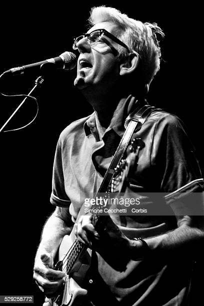 British singer and musician Nick Lowe born Nicholas Drain Lowe performs on stage during his concert in Rome