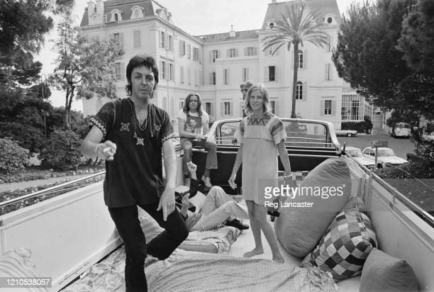 British singer and musician Paul McCartney British musician Henry McCullough and American photographer and musician Linda McCartney on the converted...