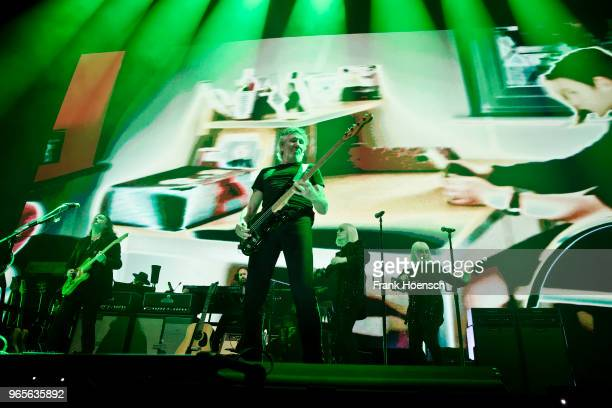 British singer and musician Roger Waters performs live on stage during a concert at the MercedesBenz Arena on June 1 2018 in Berlin Germany