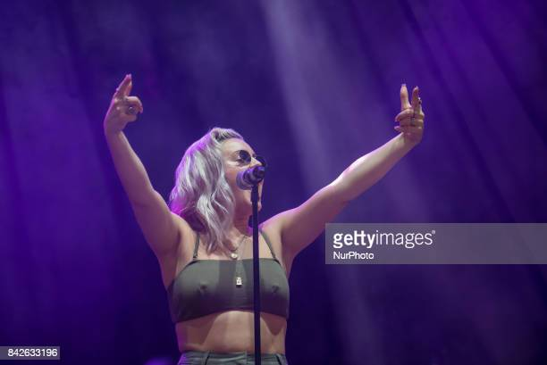 British singer and songwiter Anne Marie performs live on the first day of Reading Festival Reading on August 25 2017