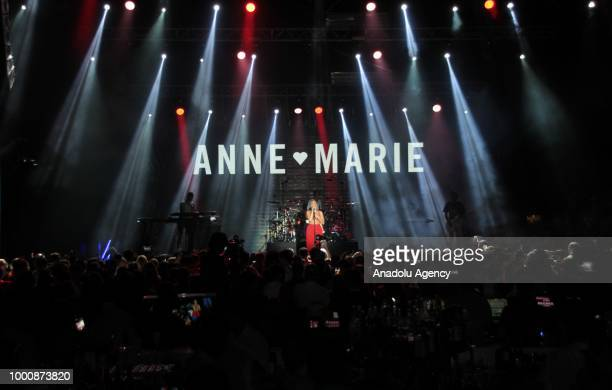 British singer and songwriter Anne Marie performs in Turkey's southern Antalya province on July 17 2018