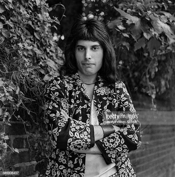 British singer and songwriter Freddie Mercury lead vocalist of the rock band Queen