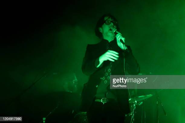 British singer and songwriter Jarvis Cocker performs at The Steel Yard, London on March 2, 2020.
