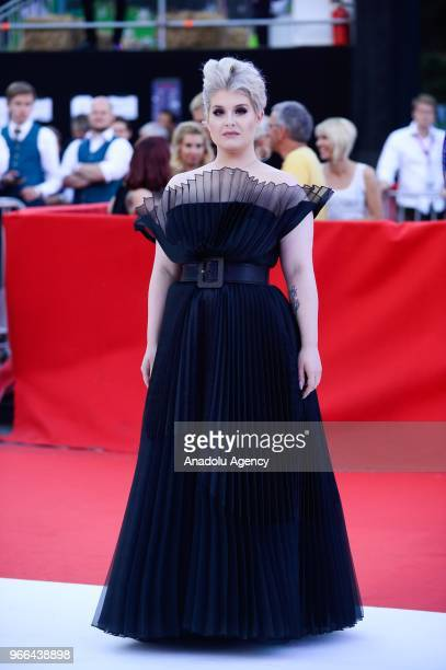 British singer and songwriter Kelly Osbourne arrives for the 25th Life Ball at Rathaus City Hall in Vienna Austria on June 02 2018 The Life Ball an...