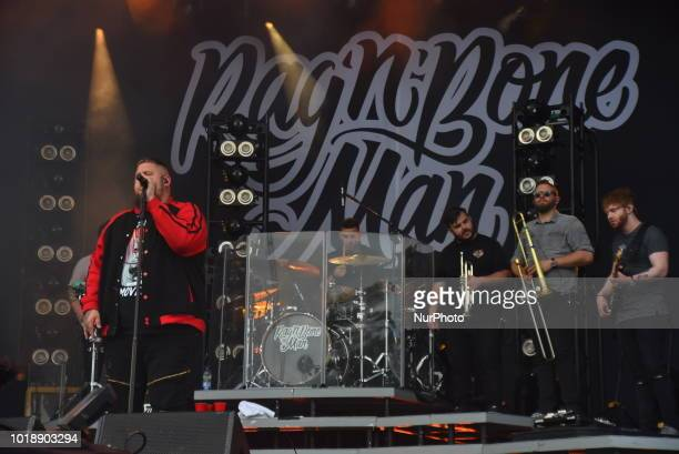 British singer and songwriter Rag 'N Bone Man performs on stage during day two of RiZE Festival, Chelmsford on August 18, 2018.