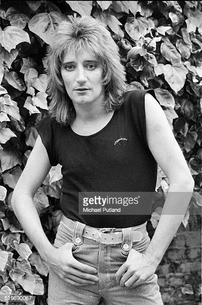British singer and songwriter Rod Stewart at his home in London 17th June 1976
