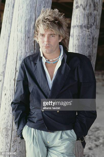 British singer and songwriter Rod Stewart