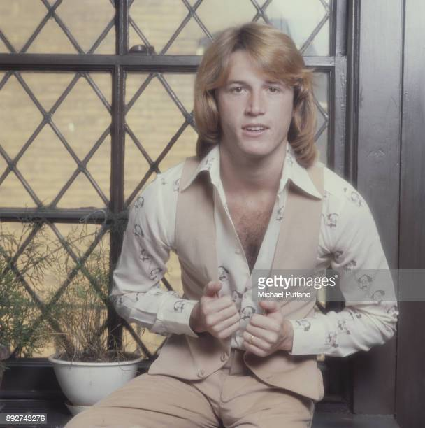 British singer Andy Gibb , circa 1980.