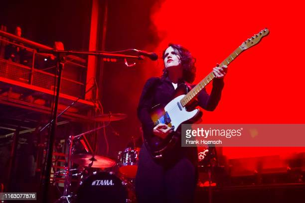 British singer Anna Calvi performs live on stage during the Festival PopKultur at the Kesselhaus on August 21 2019 in Berlin Germany