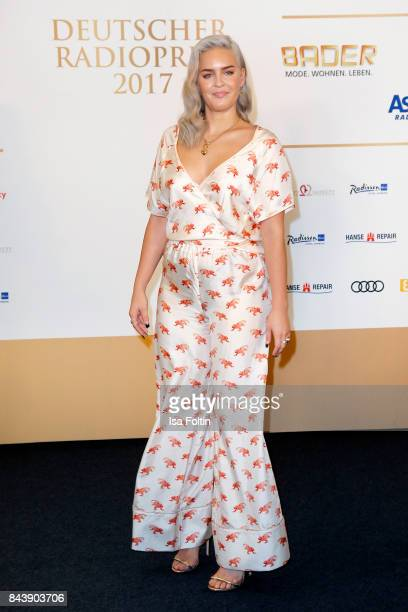 British singer AnneMarie attends the 'Deutscher Radiopreis' at Elbphilharmonie on September 7 2017 in Hamburg Germany