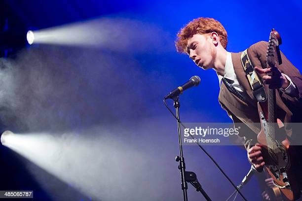 British singer Archy Samuel Marshall aka King Krule performs live during a concert at the Heimathafen Neukoelln on April 09, 2014 in Berlin, Germany.