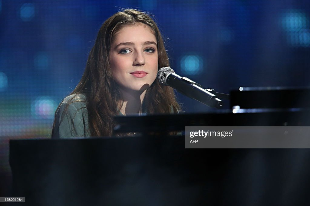 British singer Birdy performs during the 26th Telethon, France's biggest annual fund-raising event during 30 hours of live television transmission, on December 8, 2012 in Saint-Denis, north of Paris. The event aims at collecting funds for research on genetic diseases such as myopathy, a neuromuscular disease. This year's edition raised 81065239 Euros.