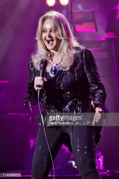 British singer Bonnie Tyler performs live on stage during a concert at the Admiralspalast on May 8 2019 in Berlin Germany