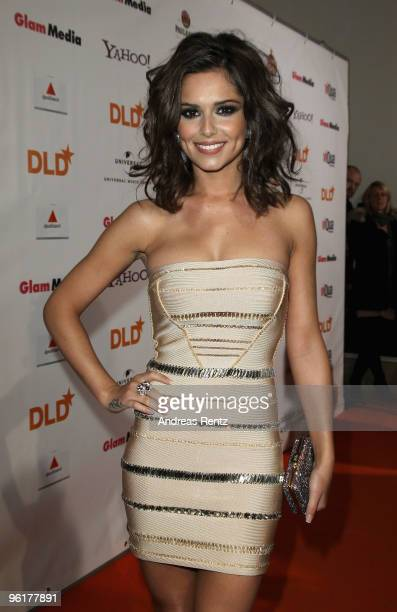 British singer Cheryl Cole arrives at the DLD Starnight at Haus der Kunst on January 25 2010 in Munich Germany