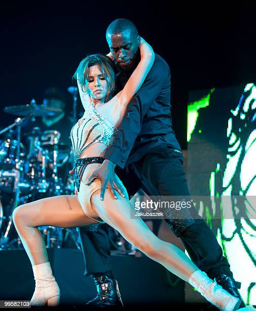 British singer Cheryl Cole performs live during a concert in support of The Black Eyed Peas at the O2 World on May 15 2010 in Berlin Germany