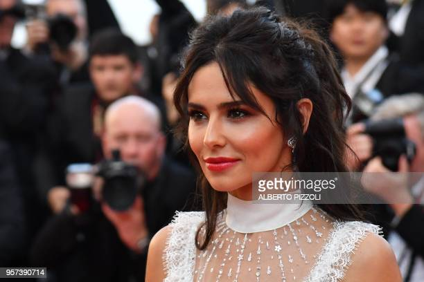 British singer Cheryl Cole poses as she arrives on May 11 2018 for the screening of the film Ash is Purest White at the 71st edition of the Cannes...