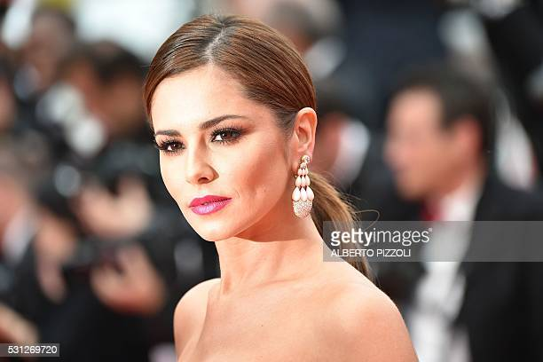 British singer Cheryl poses on May 13 2016 as she arrives for the screening of the film Ma Loute at the 69th Cannes Film Festival in Cannes southern...