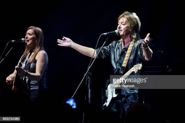 British singer Chris Norman performs live on stage during a concert at the Tempodrom on March 17 2018 in Berlin Germany