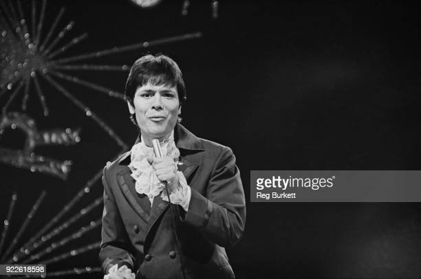 British singer Cliff Richard singing the UK's entry in the Eurovision Song Contest Congratulations Royal Albert Hall London UK 6th April 1968