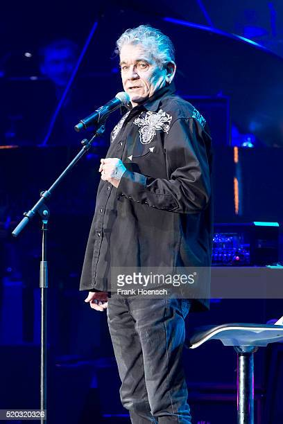 British singer Dan McCafferty performs live during Rock Meets Classic at the Tempodrom on April 8 2016 in Berlin Germany