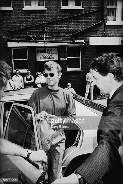 British singer David Bowie arrives in Brixton south London October 1989