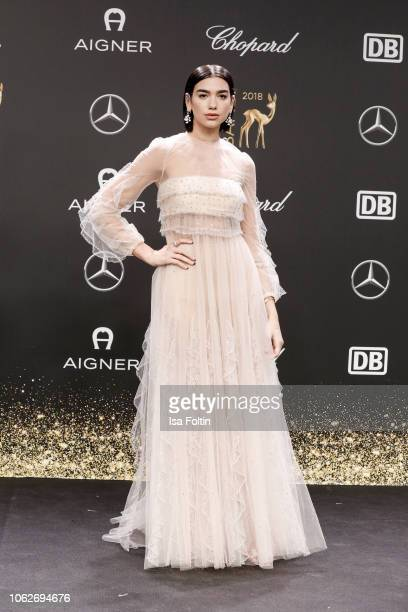 British singer Dua Lipa attends the 70th Bambi Awards at Stage Theater on November 16 2018 in Berlin Germany