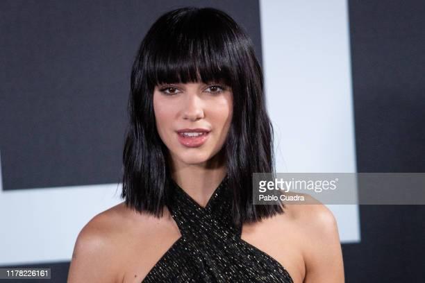 British singer Dua Lipa attends the Yves Saint Laurent fragrance 'Libre' presentation on September 30 2019 in Madrid Spain