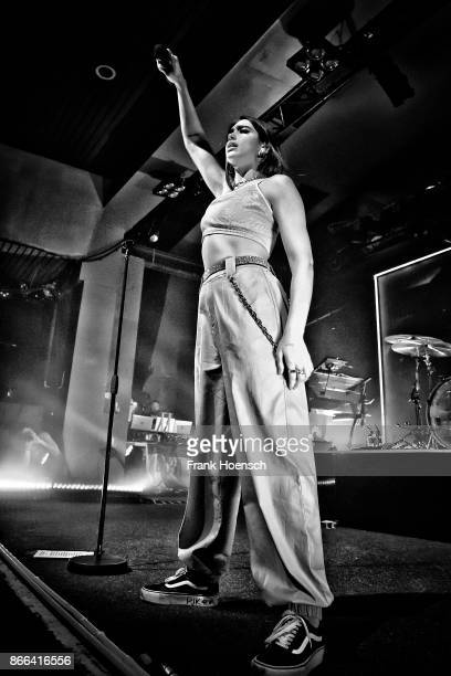 British singer Dua Lipa performs live on stage during a concert at the Astra on October 25 2017 in Berlin Germany